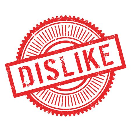 disinclination: Dislike stamp. Grunge design with dust scratches. Effects can be easily removed for a clean, crisp look. Color is easily changed.