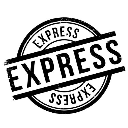Express stempel rubber grunge Stock Illustratie