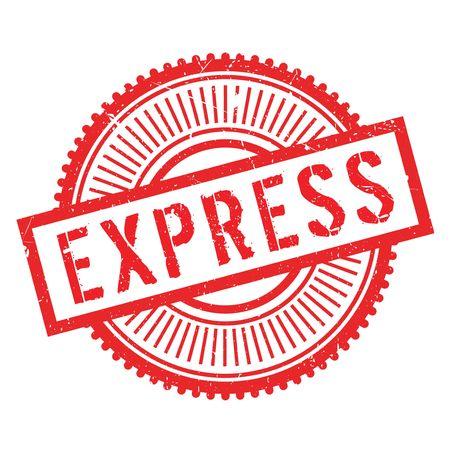 Express stamp rubber grunge Illustration