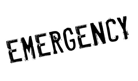 misadventure: Emergency stamp. Grunge design with dust scratches. Effects can be easily removed for a clean, crisp look. Color is easily changed. Stock Photo