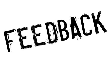 Feedback stamp rubber grunge Illustration