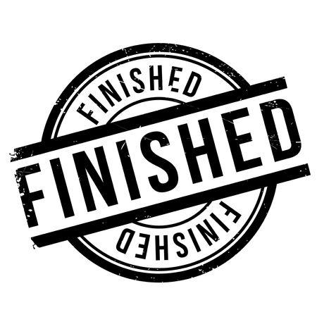 ceased: Finished stamp rubber grunge Illustration