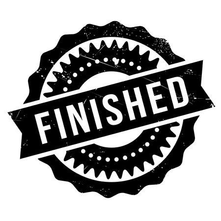 settled: Finished stamp rubber grunge Illustration