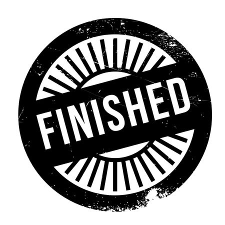 concluded: Finished stamp rubber grunge Stock Photo
