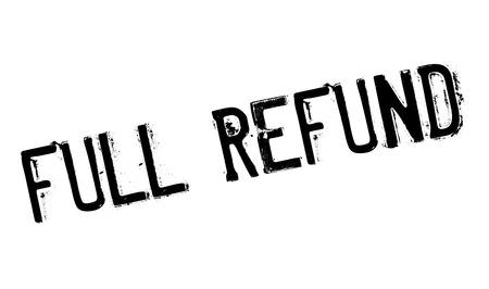 Full refund stamp