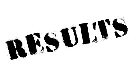 Results stamp rubber grunge Illustration