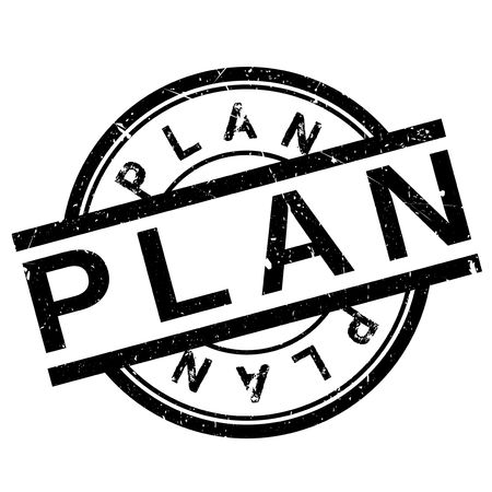 Plan stamp rubber grunge