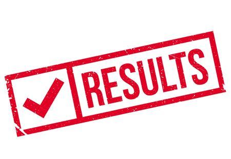 Results stamp rubber grunge Vektoros illusztráció