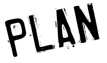 Plan stamp rubber grunge