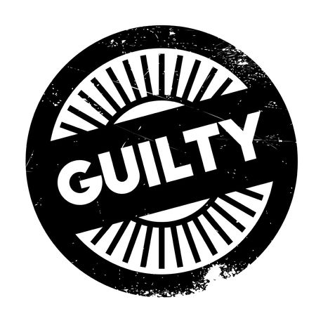 guilty: Guilty stamp rubber grunge