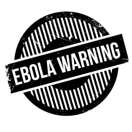 infectious disease: Ebola Warning rubber stamp. Grunge design with dust scratches. Effects can be easily removed for a clean, crisp look. Color is easily changed. Stock Photo
