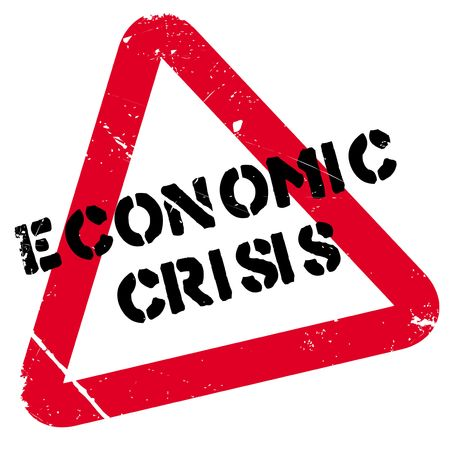 credit crunch: Economic Crisis rubber stamp. Grunge design with dust scratches. Effects can be easily removed for a clean, crisp look. Color is easily changed.