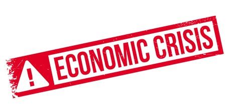 Economische Crisis rubber stamp. Grunge ontwerp met stof krassen. Effecten kunnen gemakkelijk worden verwijderd voor een schone, frisse look. Kleur is gemakkelijk veranderd.