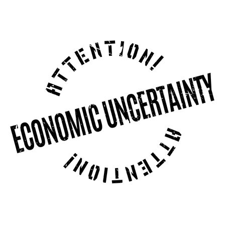 credit crunch: Economic Uncertainty rubber stamp. Grunge design with dust scratches. Effects can be easily removed for a clean, crisp look. Color is easily changed.