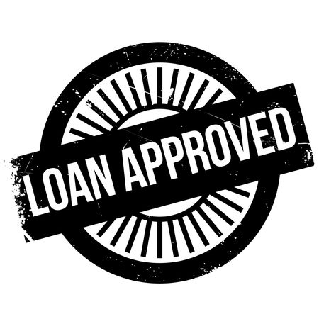 approved: Loan approved stamp Illustration