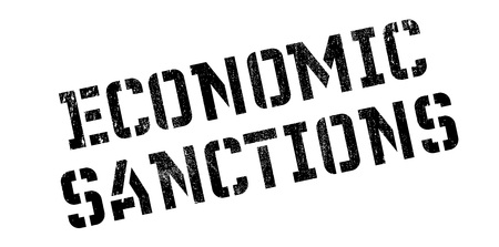budgetary: Economic Sanctions rubber stamp. Grunge design with dust scratches. Effects can be easily removed for a clean, crisp look. Color is easily changed. Stock Photo