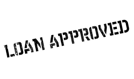 approved: Loan approved stamp Stock Photo