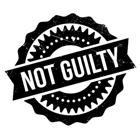 guilty: Not guilty stamp