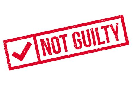 guilt: Not guilty stamp
