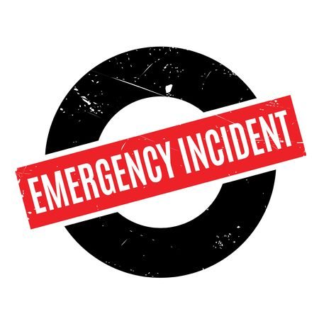critical care: Emergency Incident rubber stamp. Grunge design with dust scratches. Effects can be easily removed for a clean, crisp look. Color is easily changed.