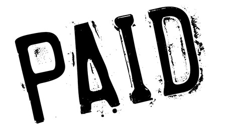 paid: Paid stamp rubber grunge Illustration