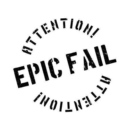 unaccepted: Epic Fail rubber stamp. Grunge design with dust scratches. Effects can be easily removed for a clean, crisp look. Color is easily changed. Illustration