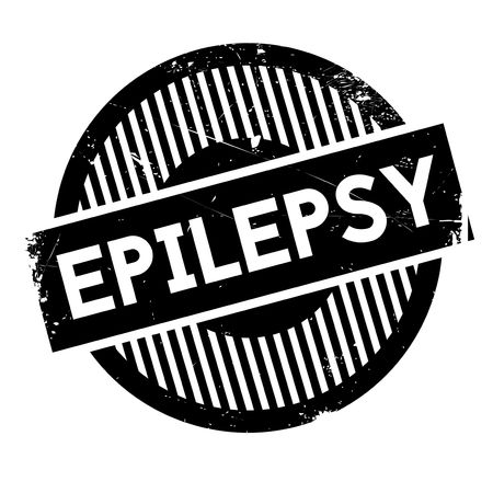 contraction: Epilepsy rubber stamp. Grunge design with dust scratches. Effects can be easily removed for a clean, crisp look. Color is easily changed.