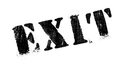 security council: Exit rubber stamp. Grunge design with dust scratches. Effects can be easily removed for a clean, crisp look. Color is easily changed.