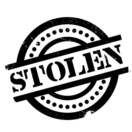 Stolen rubber stamp. Grunge design with dust scratches. Effects can be easily removed for a clean, crisp look. Color is easily changed.