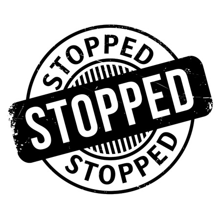stoppage: Stopped rubber stamp. Grunge design with dust scratches. Effects can be easily removed for a clean, crisp look. Color is easily changed.