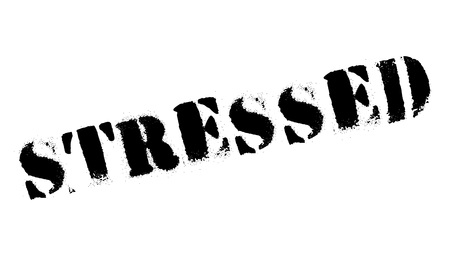 Stressed rubber stamp. Grunge design with dust scratches. Effects can be easily removed for a clean, crisp look. Color is easily changed. Vector Illustration