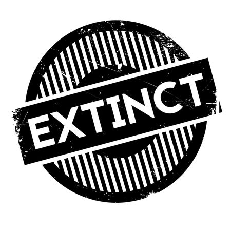 the end of the world: Extinct rubber stamp. Grunge design with dust scratches. Effects can be easily removed for a clean, crisp look. Color is easily changed.
