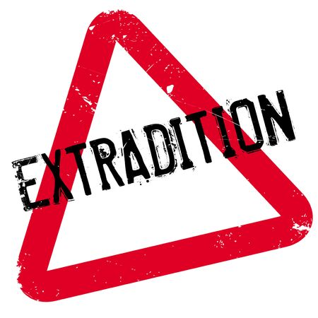 banish: Extradition rubber stamp. Grunge design with dust scratches. Effects can be easily removed for a clean, crisp look. Color is easily changed. Illustration