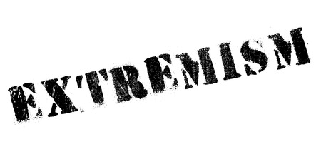 Extremism rubber stamp. Grunge design with dust scratches. Effects can be easily removed for a clean, crisp look. Color is easily changed.