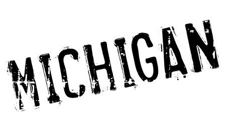 wolverine: Michigan stamp rubber grunge