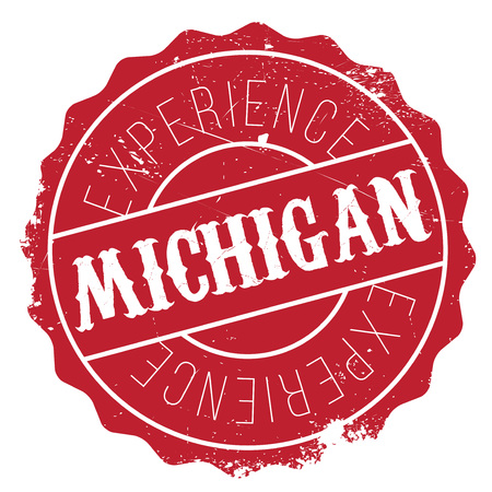 detroit: Michigan stamp rubber grunge