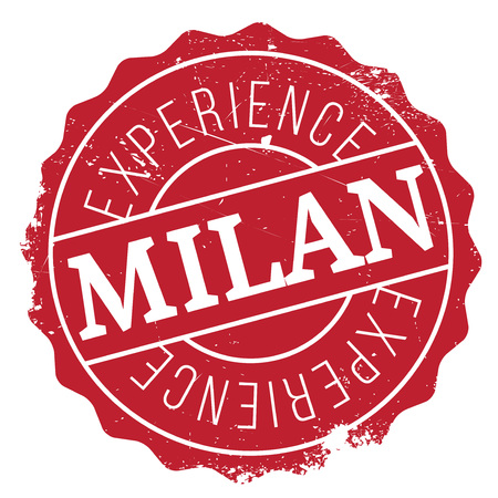 lombardy: Milan stamp rubber grunge