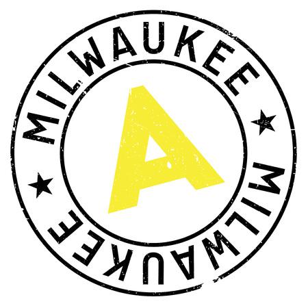 Milwaukee: Milwaukee stamp rubber grunge