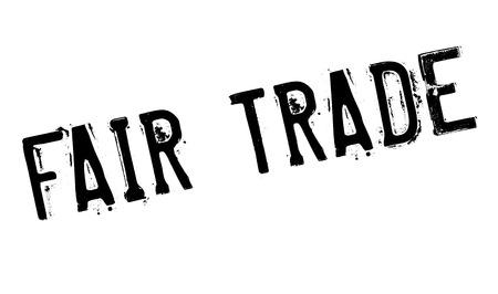 Fair Trade rubber stamp Vetores
