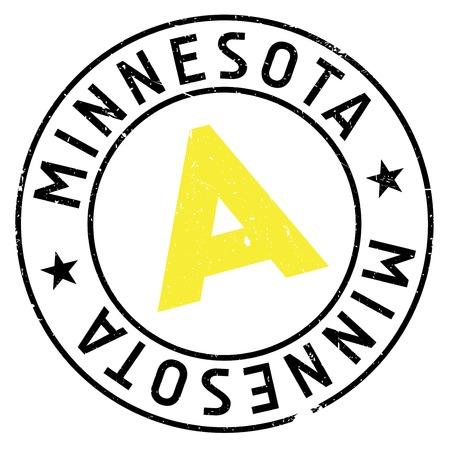 paul: Minnesota stamp rubber grunge