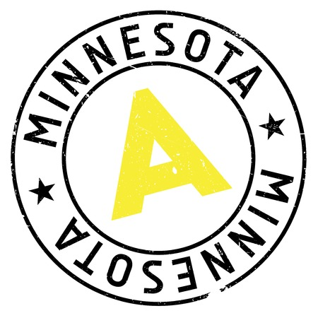 Minnesota stamp rubber grunge