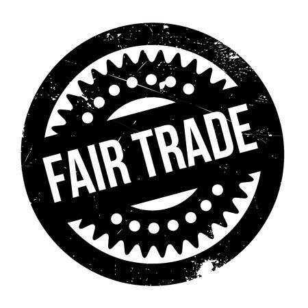 third world economy: Fair Trade rubber stamp Illustration