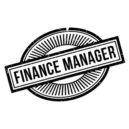 proprietor: Finance Manager rubber stamp. Grunge design with dust scratches. Effects can be easily removed for a clean, crisp look. Color is easily changed.