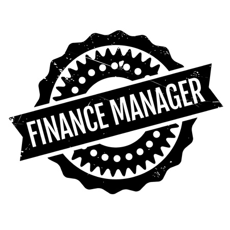 borrowing: Finance Manager rubber stamp. Grunge design with dust scratches. Effects can be easily removed for a clean, crisp look. Color is easily changed.