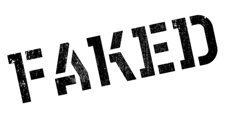 faked: Faked rubber stamp. Grunge design with dust scratches. Effects can be easily removed for a clean, crisp look. Color is easily changed.