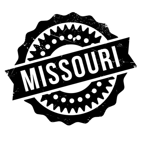 Missouri stamp rubber grunge