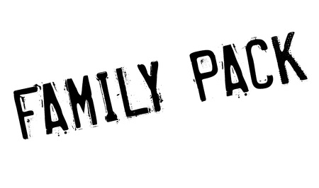 Family Pack rubber stamp Illustration