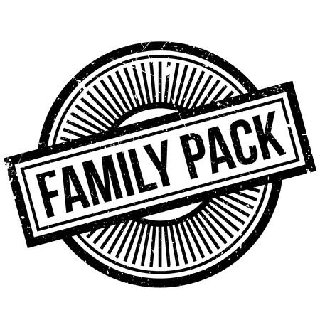 Family Pack rubber stamp Illustration