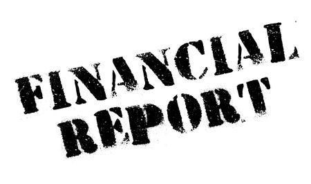 accountancy: Financial Report rubber stamp