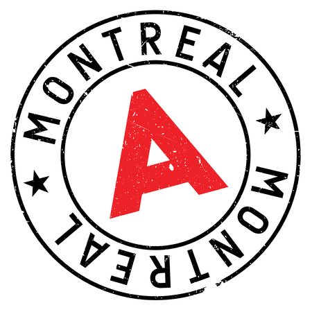 Montreal stamp rubber grunge